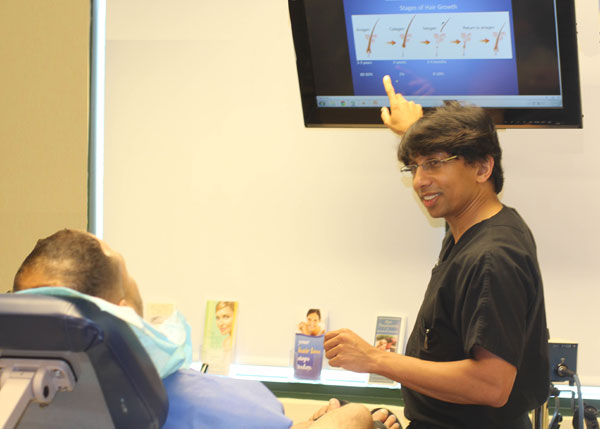 patient asking questions to Dr. Prasad