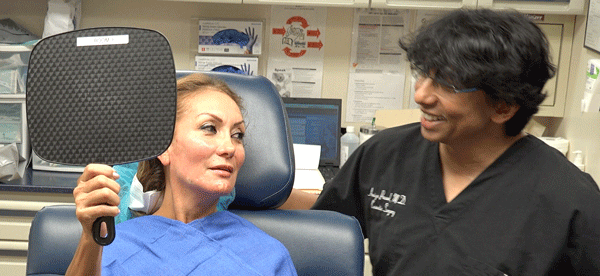 Dr. Amiya Prasad helping people look better, and feel more confident