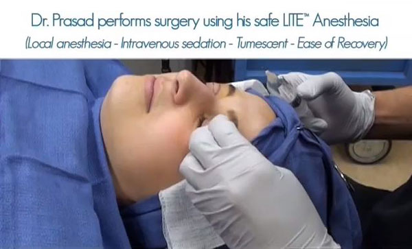 Dr. Amiya Prasad uses local anesthesia with LITE™ IV sedation