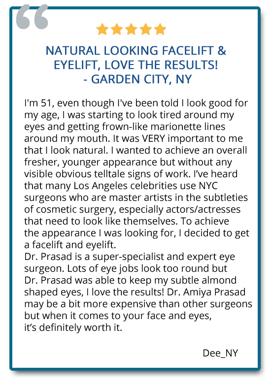 patient reviews on facelift and eyelift