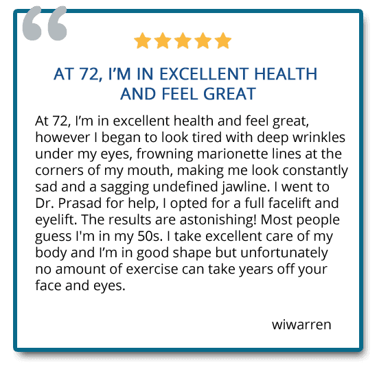 patient review on facelift surgery