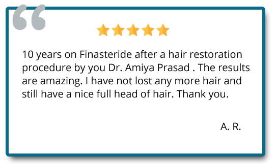 Patient review on hair restoration results