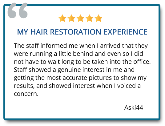 patient review on hair restoration experience