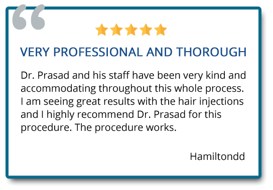 patient review on hair restoration injection