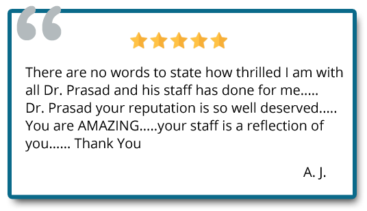 5 star rating review of cosmetic procedure done at Prasad Cosmetic Surgery New York City, NY