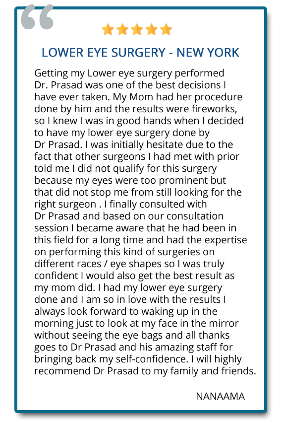 patient reviews on eye bags treatment