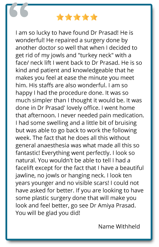 patient review face and neck lift