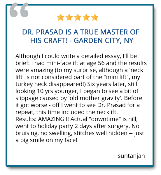 patient review on necklift and mini facelift