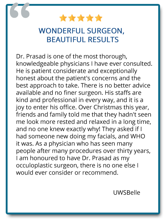 patient reviews on eyelid surgery