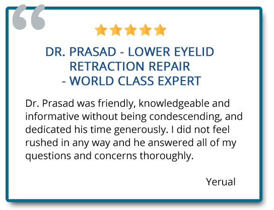 patient review on lower eyelid retraction repair