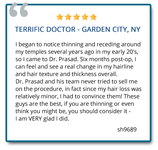 patient reviews on hair regeneration post-op