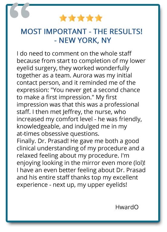 patient review on transconjunctival blepharoplasty