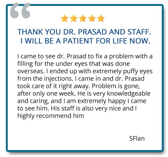 patient review on under eye fillers