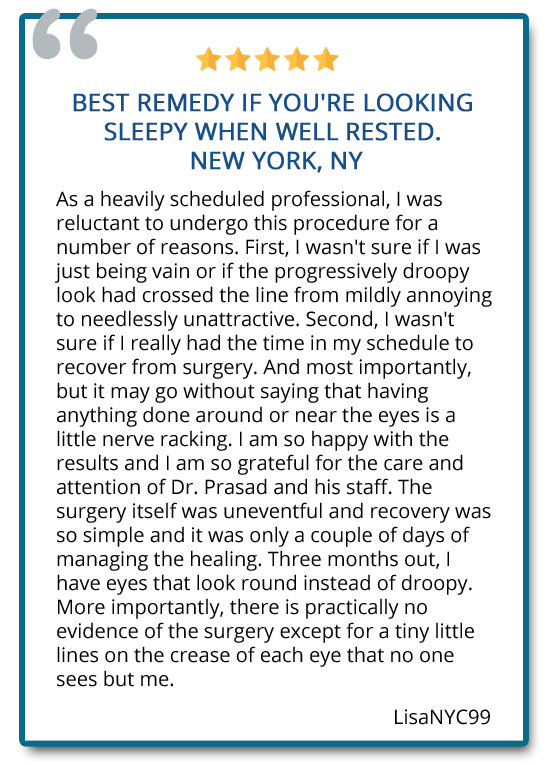 patient review on eye lift surgery