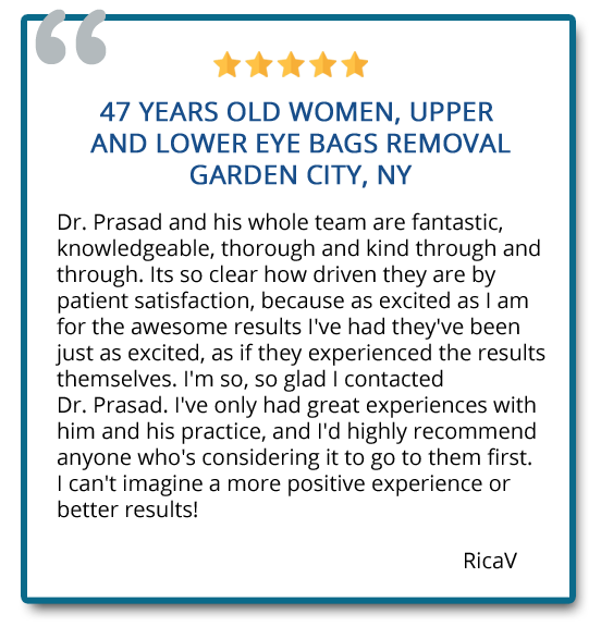 patient review on upper and lower blepharoplasty