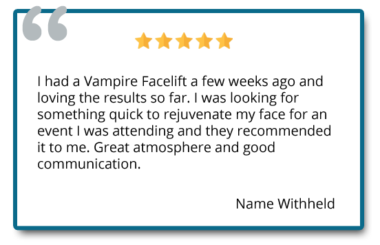 patient reviews on vampire facelift